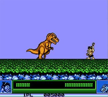 Pantallazo del juego online Joe & Mac (NES)