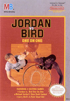 Carátula del juego Jordan vs Bird One on One (NES)