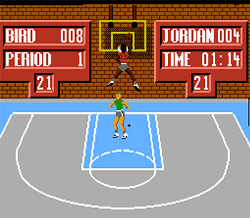 Pantallazo del juego online Jordan vs Bird One on One (NES)