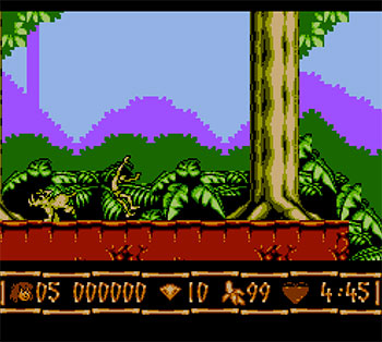Pantallazo del juego online Disney's The Jungle Book (NES)