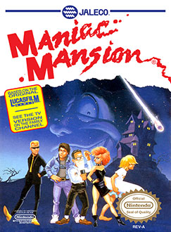 Portada de la descarga de Maniac Mansion