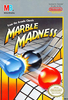 Carátula del juego Marble Madness  (NES)