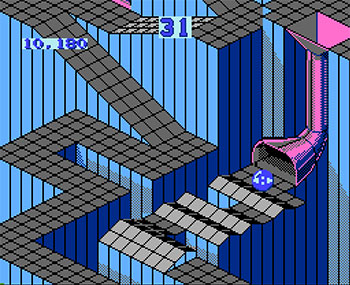Pantallazo del juego online Marble Madness  (NES)