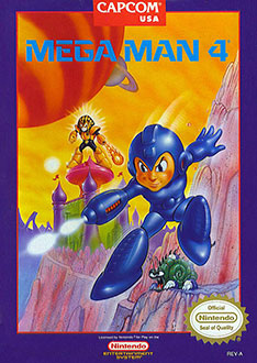 Carátula del juego Mega Man 4 (NES)