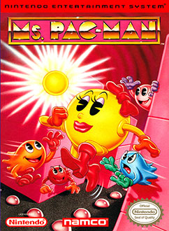 Portada de la descarga de Ms. Pac-Man