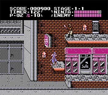 Pantallazo del juego online Ninja Gaiden (NES)