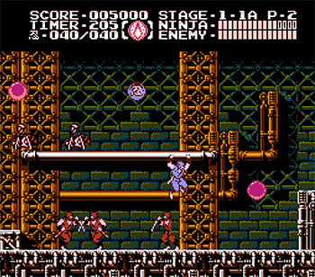 Pantallazo del juego online Ninja Gaiden III The Ancient Ship of Doom (NES)