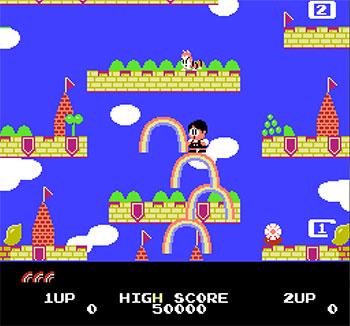 Pantallazo del juego online Rainbow Islands (NES)