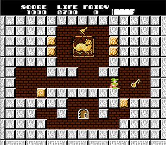Pantallazo del juego online Solomon's Key (NES)