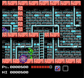 Pantallazo del juego online Teenage Mutant Ninja Turtles (NES)