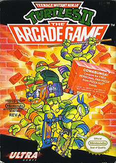 Carátula del juego Teenage Mutant Ninja Turtles II The Arcade Game (NES)