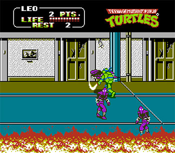 Pantallazo del juego online Teenage Mutant Ninja Turtles II The Arcade Game (NES)