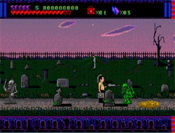 Pantallazo del juego online The Addams Family (PC ENGINE-CD)