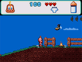 Pantallazo del juego online Baby Jo The Super Hero (PC ENGINE CD)