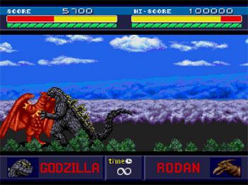 Pantallazo del juego online Godzilla (PC ENGINE CD)