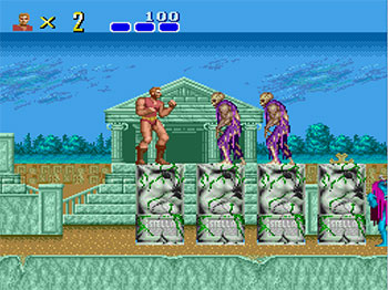 Pantallazo del juego online Altered Beast (PC ENGINE CD)