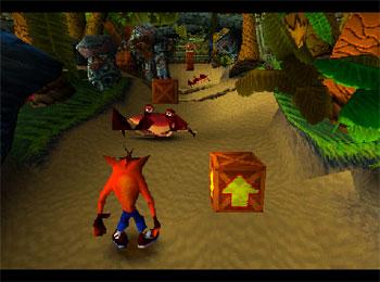 Pantallazo del juego online Crash Bandicoot (PSX)