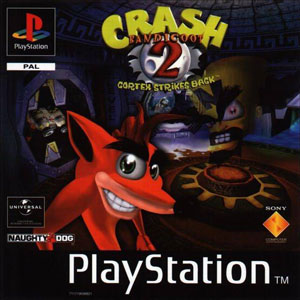 Carátula del juego Crash Bandicoot 2 Cortex Strikes Back (PSX)