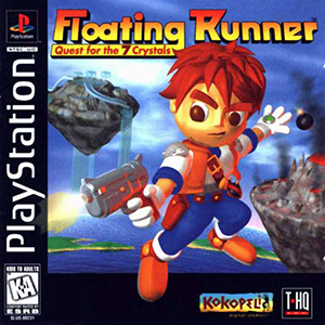 Portada de la descarga de Floating Runner: Quest for the 7 Crystals