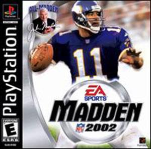 Carátula del juego Madden NFL 2002 (PSX)