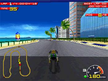 Pantallazo del juego online Moto Racer (PSX)