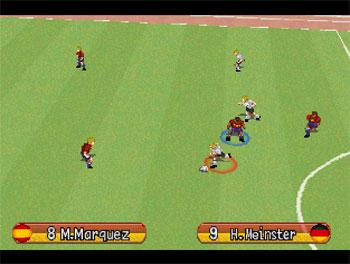 Pantallazo del juego online Namco Soccer Prime Goal (PSX)