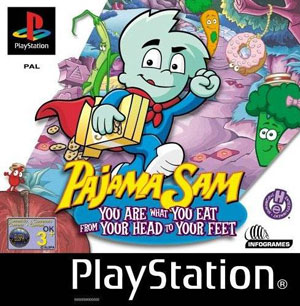 Portada de la descarga de Pajama Sam: You are What you Eat from Your Head to Your Feet