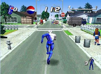 Pantallazo del juego online Pepsiman (PSX)