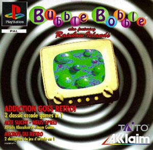 Carátula del juego Bubble Bobble Also Featuring Rainbow Islands (PSX)