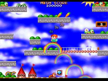 Pantallazo del juego online Bubble Bobble Also Featuring Rainbow Islands (PSX)