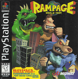 Portada de la descarga de Rampage World Tour