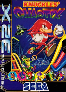 Carátula del juego Knuckles Chaotix (Sega 32x)