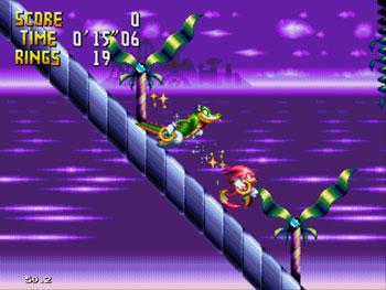 Pantallazo del juego online Knuckles Chaotix (Sega 32x)