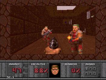 Pantallazo del juego online Doom (Sega 32x)