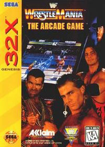 Carátula del juego WWF Wrestlemania The Arcade Game (Sega 32x)