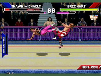 Pantallazo del juego online WWF Wrestlemania The Arcade Game (Sega 32x)