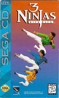 Carátula del juego 3 Ninjas Kick Back (SEGA CD)