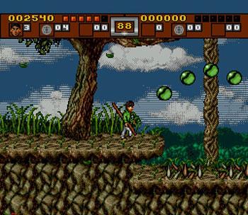 Pantallazo del juego online 3 Ninjas Kick Back (SEGA CD)