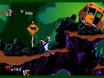 Pantallazo del juego online Earthworm Jim Special Edition (SEGA CD)