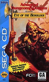 Juego online Advanced Dungeons & Dragons: Eye of the Beholder (SEGA CD)
