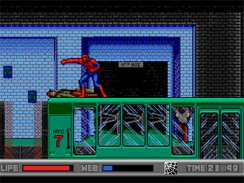 Pantallazo del juego online Spider-Man vs The Kingpin (SEGA CD)