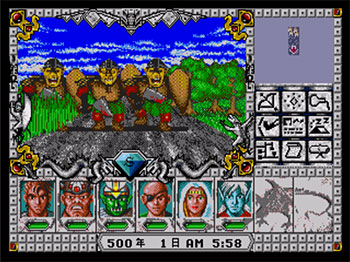 Pantallazo del juego online Might and Magic III Isles of Terra (SEGA CD)