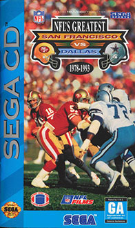 Carátula del juego NFL's Greatest San Francisco Vs. Dallas 1978-1993 (SEGA CD)
