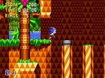 Pantallazo del juego online Sonic CD (SEGA CD)