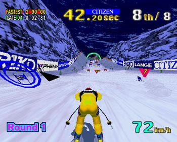 Pantallazo del juego online Sega Ski Super G (SEGA Model 2)