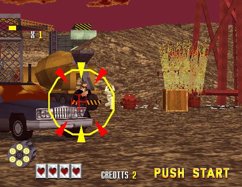 Pantallazo del juego online Virtua Cop (SEGA Model 2)