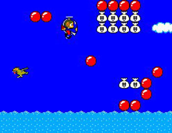 Pantallazo del juego online Alex Kidd in Miracle World (SMS)