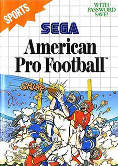 Carátula del juego American Pro Football (SMS)