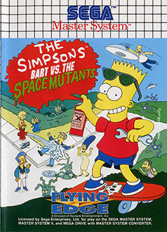 Carátula del juego The Simpsons - Bart vs The Space Mutants