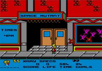 Pantallazo del juego online The Simpsons - Bart vs The Space Mutants